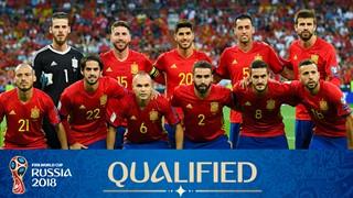 team photo for Spain